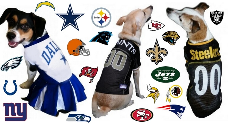 Get Your Pup Ready For Kickoff  Dog Football Jerseys   Toys 1d024cd2b