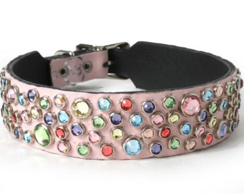 multi-crystals-on-light-pink-leather-dog-collar