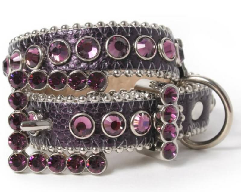 purple-leather-crystal-dog-collar