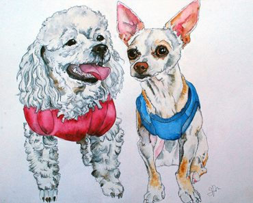 Custom pet portraits: If you're in search of a thoughtful and quality gift (either for yourself or a fellow dog lover) then this is a definite must-see!