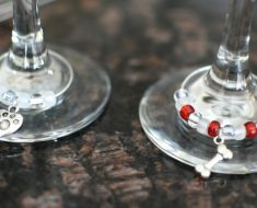 Love indulging in a glass of wine with friends and family? If so, these easy-to-make wine glass charms will make the perfect addition to your next party!