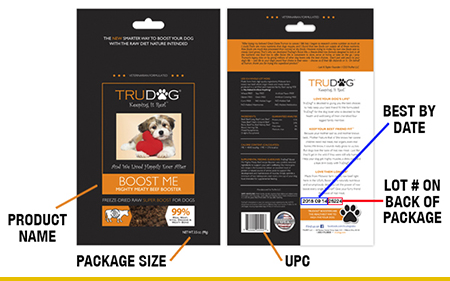 TruPet, LLC is voluntarily recalling a limited amount of their TruDog Boost Me Mighty Meaty Beef Topper Meal Enhancer. It's a freeze-dried raw dog food that officials say may be contaminated with salmonella. Find out more about this recent dog food recall.
