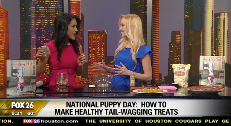 It's National Puppy Day! So why not spoil your pup with a fresh and tasty dog treat? I stopped by Fox26 to help views make some. Watch the segment here.